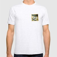 Israel grunge sticker flag Mens Fitted Tee Ash Grey SMALL