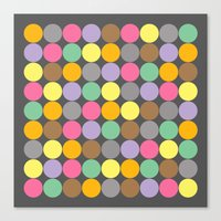 Candy Rounds Coal (white available too) Canvas Print