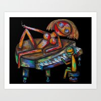 Every Morning Jack Plays… Art Print