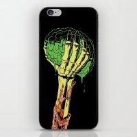 Zombie Skeleton Brain Vintage iPhone & iPod Skin