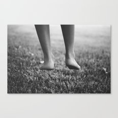 Always one foot on the ground. Canvas Print