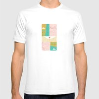 Eye On The City Mens Fitted Tee White SMALL