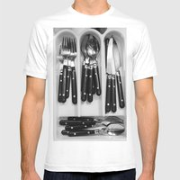 Silverware. Mens Fitted Tee White SMALL