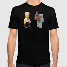 Lego cook & robot misunderstanding SMALL Black Mens Fitted Tee