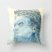 Ritratto di Fantasia color version Throw Pillow