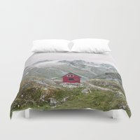 Mint Hut Duvet Cover