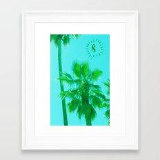 palm tree number 8 Framed Art Print