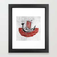 Lone Viking Framed Art Print