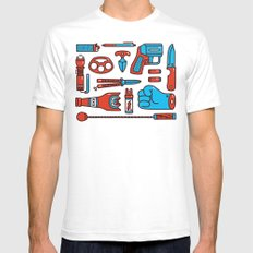 Street Weapons Mens Fitted Tee White SMALL
