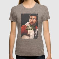 Poe Dameron 1 / The Forc… Womens Fitted Tee Tri-Coffee SMALL