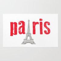Paris Red Rug