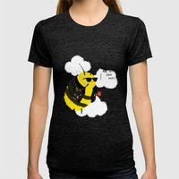 Festival Bees Womens Fitted Tee Tri-Black SMALL