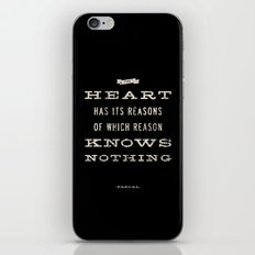 The Heart Quote iPhone & iPod Skin