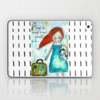 Travel Girl Quote Laptop & iPad Skin