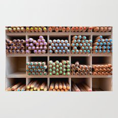 Coloured pencils Rug