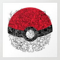 ONE BALL TO CATCH THEM ALL Art Print