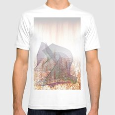 LInes 1 Mens Fitted Tee White SMALL