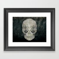 Twilight 4 Eyes Skull Framed Art Print