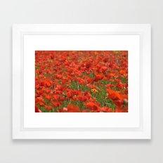 Red poppies 1918 Framed Art Print