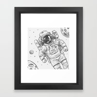 astro Traveller Retro Framed Art Print