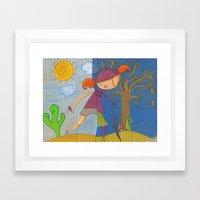 summer - autumn Framed Art Print
