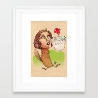 I Love You... Framed Art Print