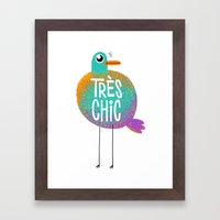 Très Chic Framed Art Print
