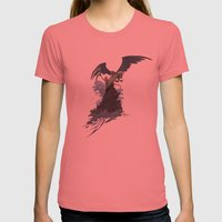 GRIM SURF Womens Fitted Tee Pomegranate SMALL