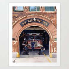 Engine 33 Art Print