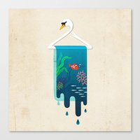 Swan Hanger Canvas Print