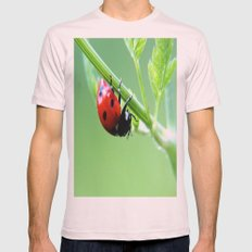 ladybug Mens Fitted Tee Light Pink SMALL