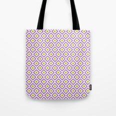 Purple and Green Diamonds Tote Bag