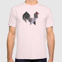 ROOSTER Mens Fitted Tee Light Pink SMALL