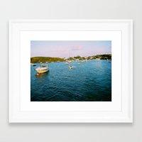 Out At Sea | Sail boats | Bermuda Framed Art Print