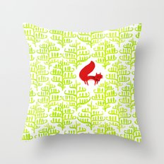 Damask forest pattern Throw Pillow
