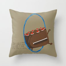 The Cake is Alive Throw Pillow