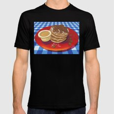Pancakes Week 4 Mens Fitted Tee Black SMALL