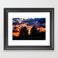 Dry Day Sunset Framed Art Print