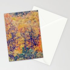 Autumn Woods Abstract -- Colorful Foliage Stationery Cards