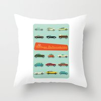 Vintage Automobiles Throw Pillow