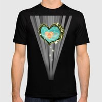 Heart Container  Mens Fitted Tee Black SMALL