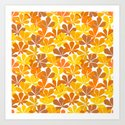 Chestnut tree autumn leaves Art Print