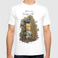 Schrödinger`s Cat Mens Fitted Tee White SMALL