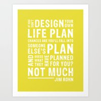Design Your Life • Chartreuse Art Print