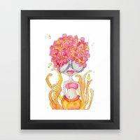 dreamsicle -- she's extra yummy. Framed Art Print