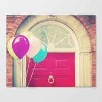 Red Door Balloons Canvas Print