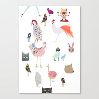 Animal Collection Canvas Print