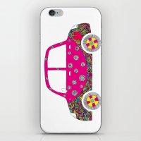 Colorful car iPhone & iPod Skin