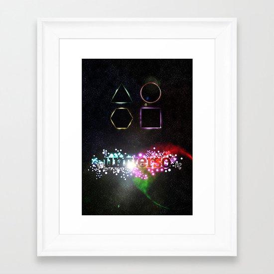 Universo Framed Art Print