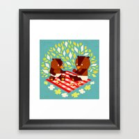 Picknick Bears Framed Art Print